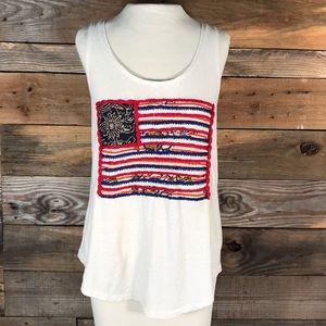 Lucky Brand Flag Tank/Shirt